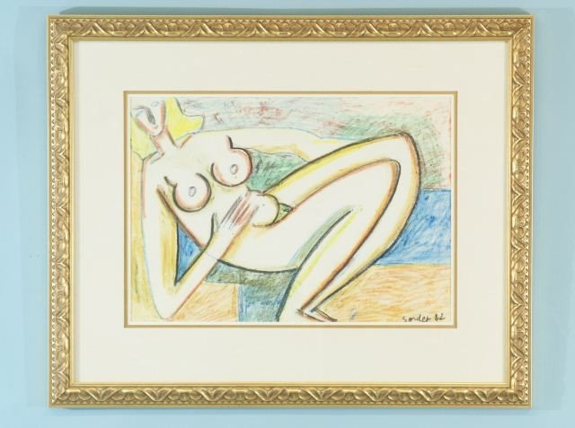 """17: SOULET """"NUDES"""" ACRYLIC ON PAPER"""