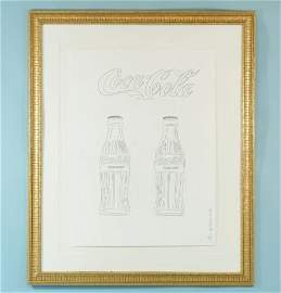 "40E: ANDY WARHOL ""COCA COLA BOTTLES"" PENCIL DRAWING"