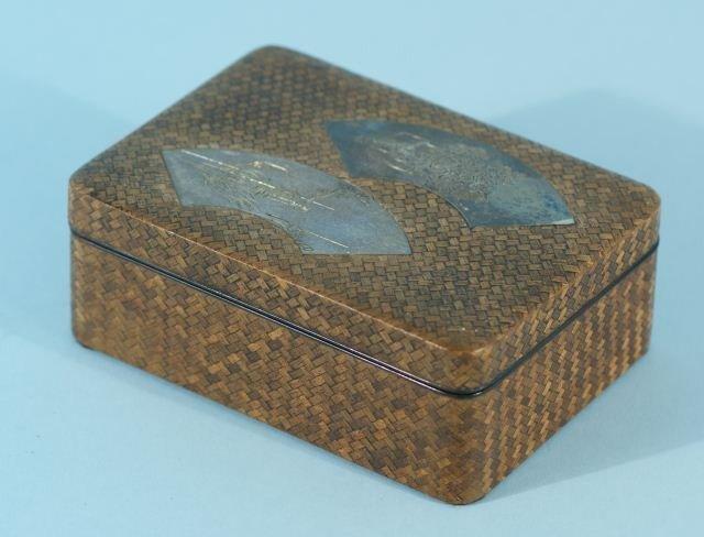 95: JAPANESE WOVEN BAMBOO BOX, CIRCA 1920