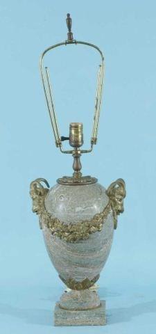 96: ANTIQUE 19th CENTURY ITALIAN MARBLE VASE LAMP