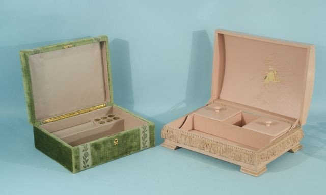 1A: TWO VINTAGE JEWELRY BOXES
