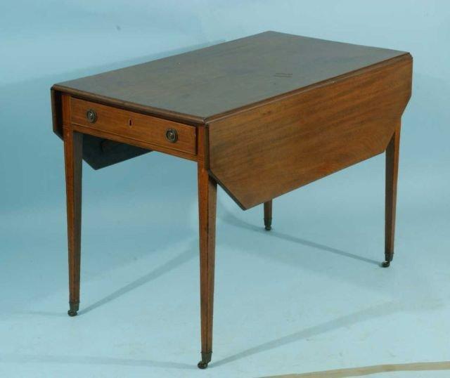 12: MAHOGANY SHERIDAN PEMBROKE TABLE, CIRCA LATE 18th