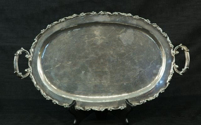 15: MEXICAN STERLING SIVLER SERVING TRAY