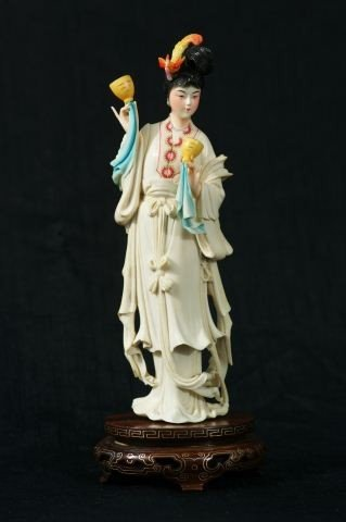 127: CARVED IVORY CHINESE FIGURE