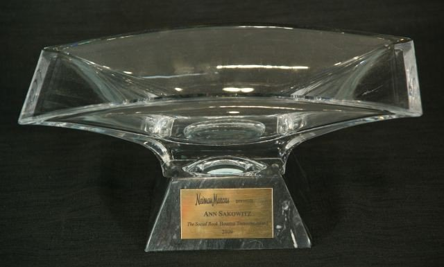10A: NAMBE CRYSTAL BOWL WITH MARBLE BASE