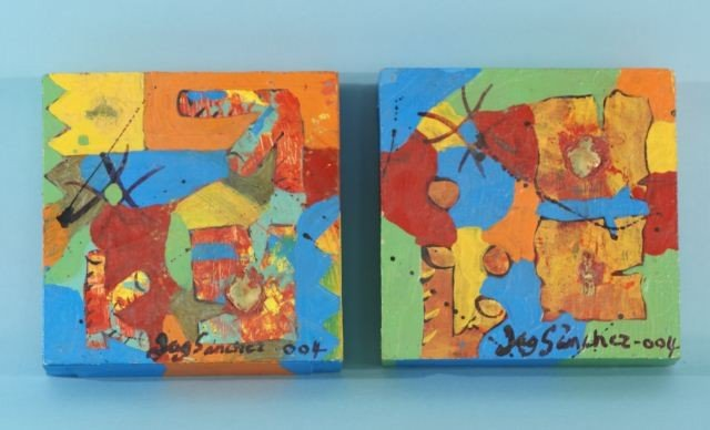 9: TWO ART PIECES BY SANCHEZ 2004