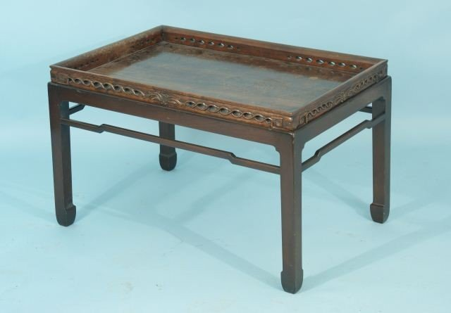 16: 19th CENTURY CHINESE CHIPPENDALE COFFEE TABLE