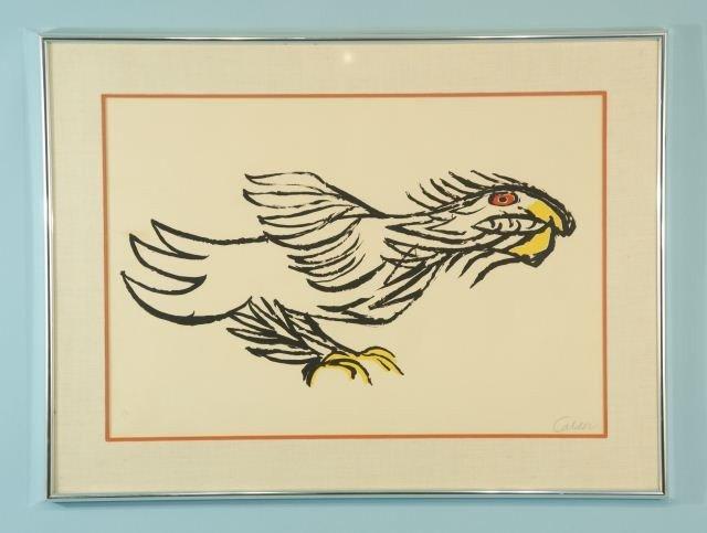 "11: ALEXANDER CALDER ""ALTEC BIRD"" WATERCOLOR"