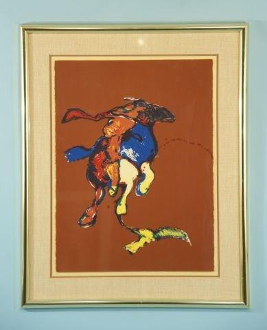 """21: FRITZ SHOLDER """"BIRD INDIAN"""" COLOR LITHO #38/50"""