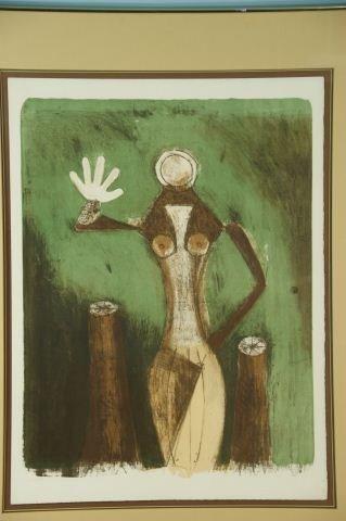 """24: RUFINO TAMAYO """"FEMME EN MAUVE"""" LITHOGRAPH #130/150"""