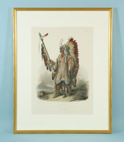 "80E: KARL BODMER ""MATO-TOPE"" ETCHING/AQUATINT"