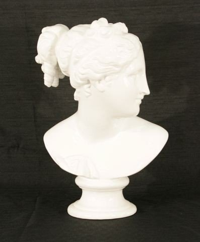 4: WHITE PORCELAIN BUST OF DIANA