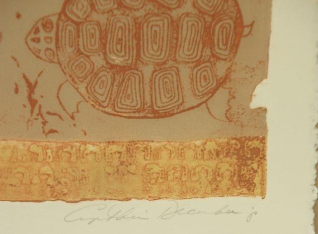 "157: CYNTHIA DECEMBER ""TULUM"" LITHOGRAPH #19/200 - 4"