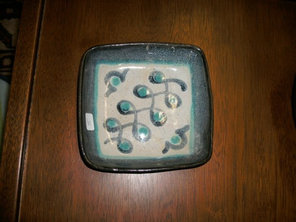 5: GLIDDEN ART POTTERY TRAY