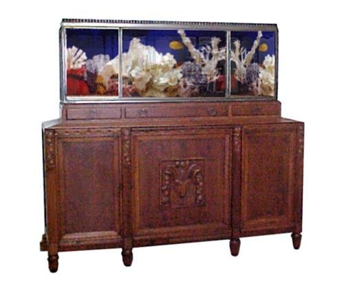 1: Fantastic Art Deco Aquarium & Cabinet c. 1920