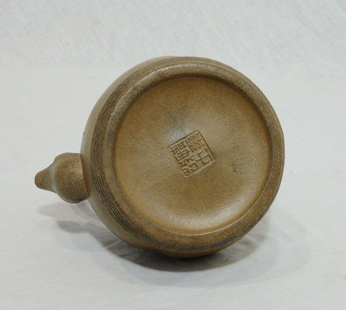 Chinese Ceramic Teapot With Studio Mark - 7
