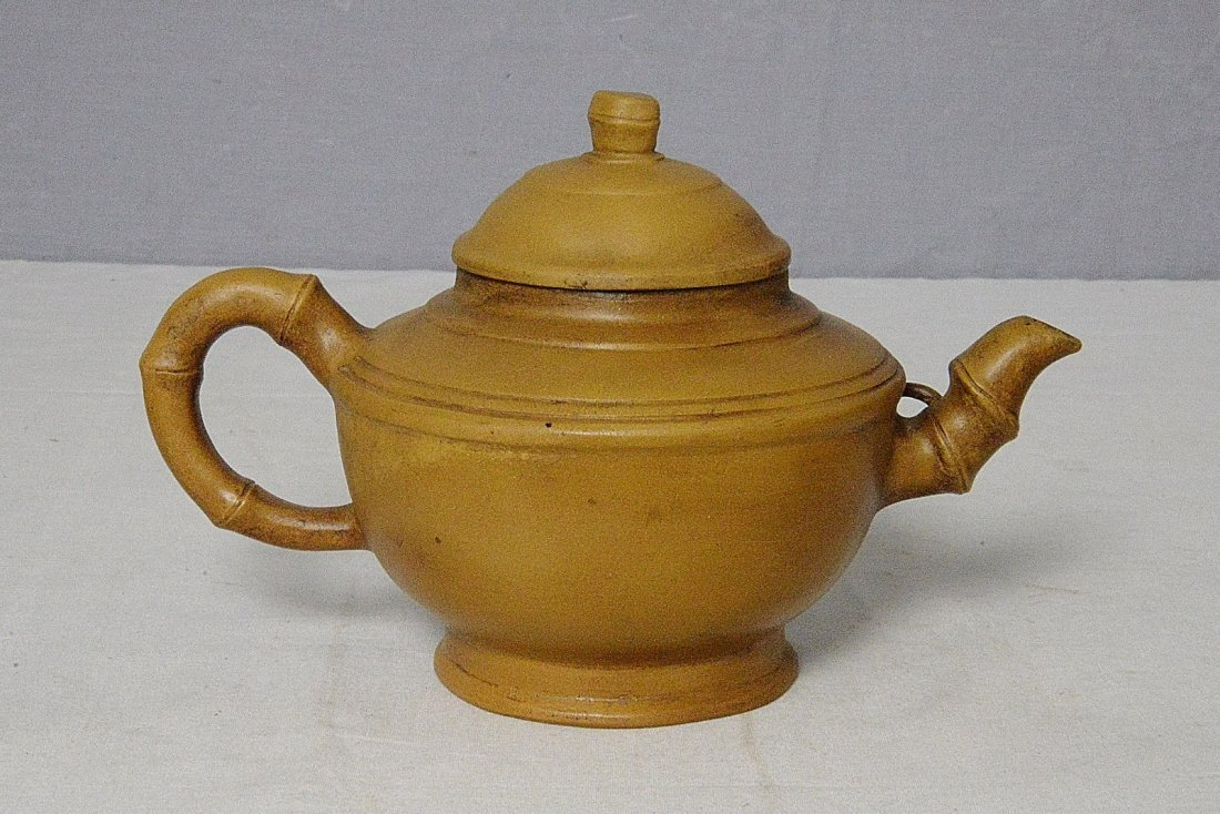 Chinese Ceramic Teapot With Mark - 2
