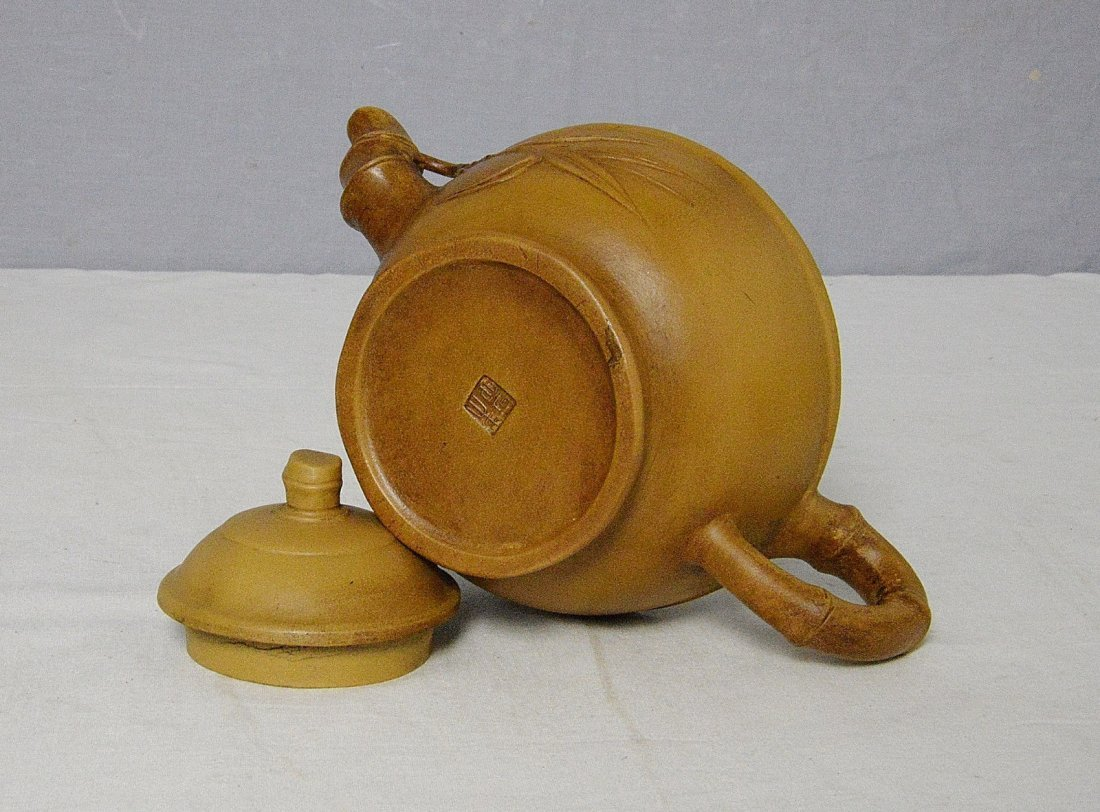 Chinese Ceramic Teapot With Mark - 4