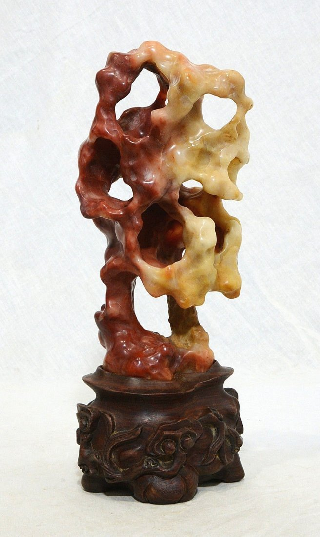 Well Hand Carved Chinese Shou-Shan Stone Statue