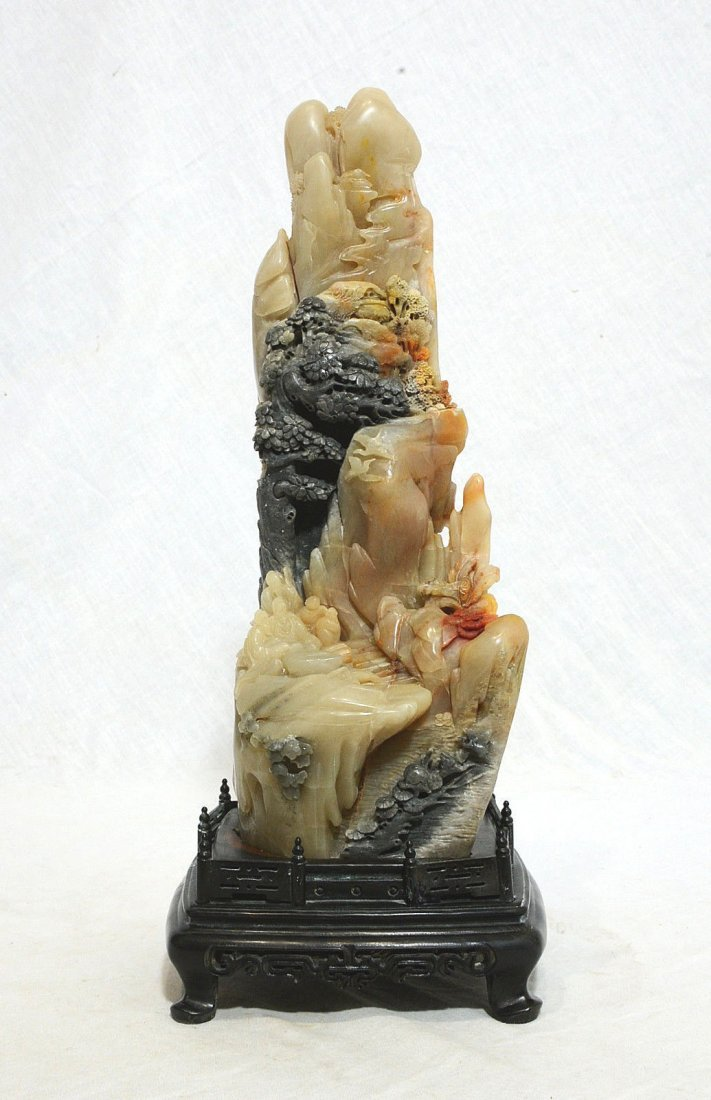 Well Hand Carved Chinese Shou-Shan Stone Boulder