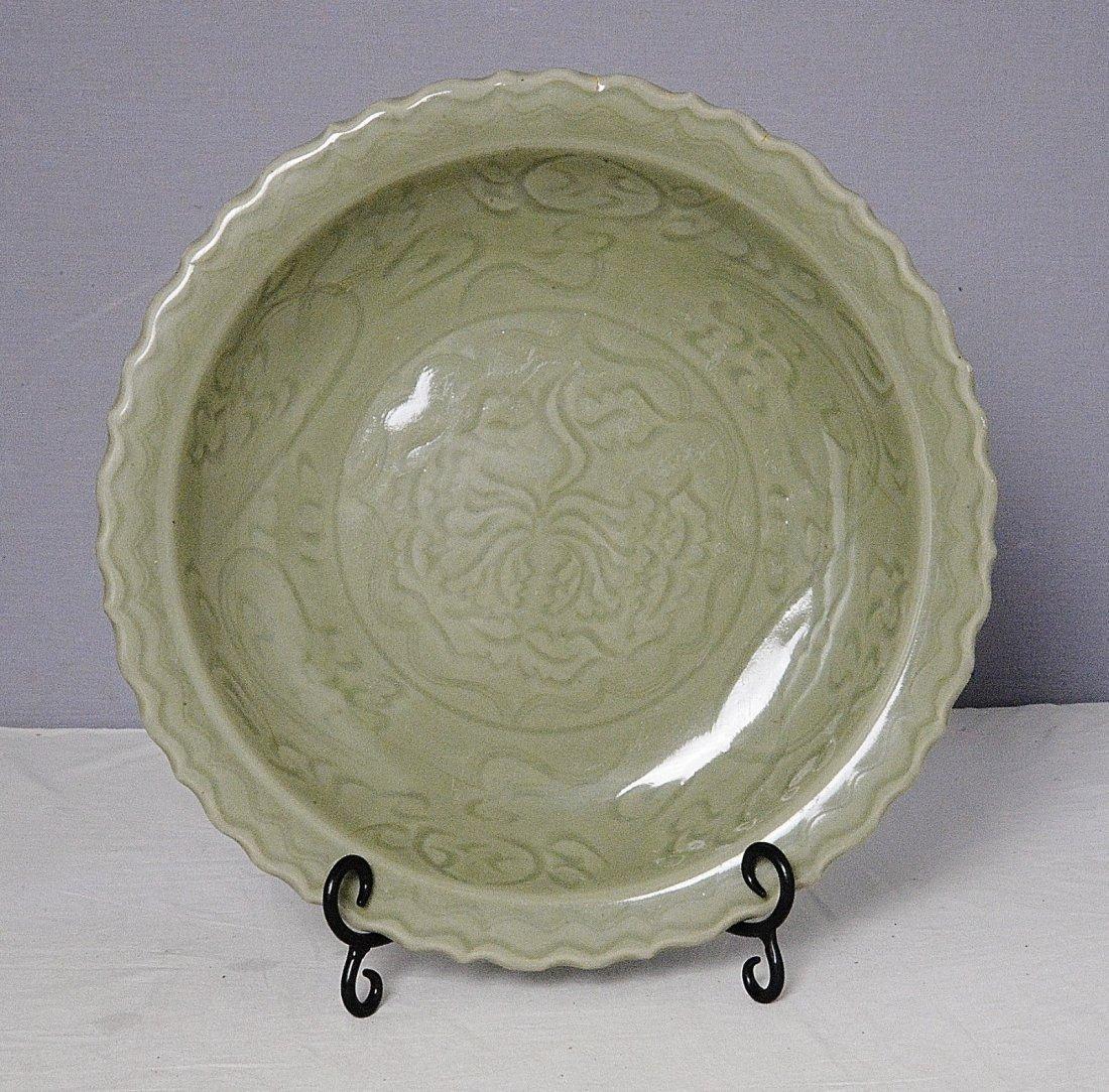 Chinese Celadon Glaze Porcelain Plate