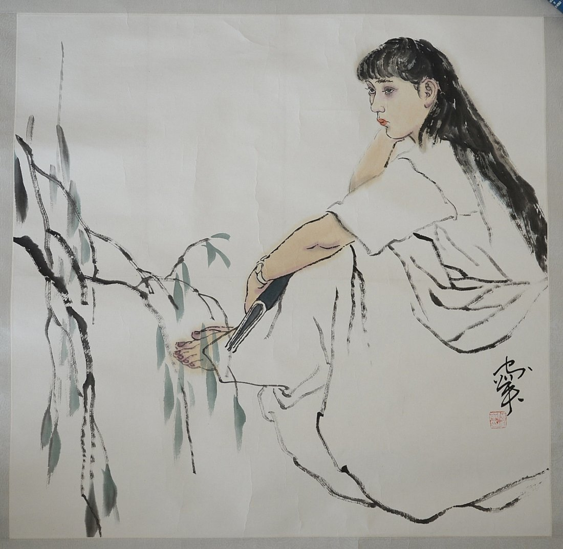 Chinese Ink On Paper Painting