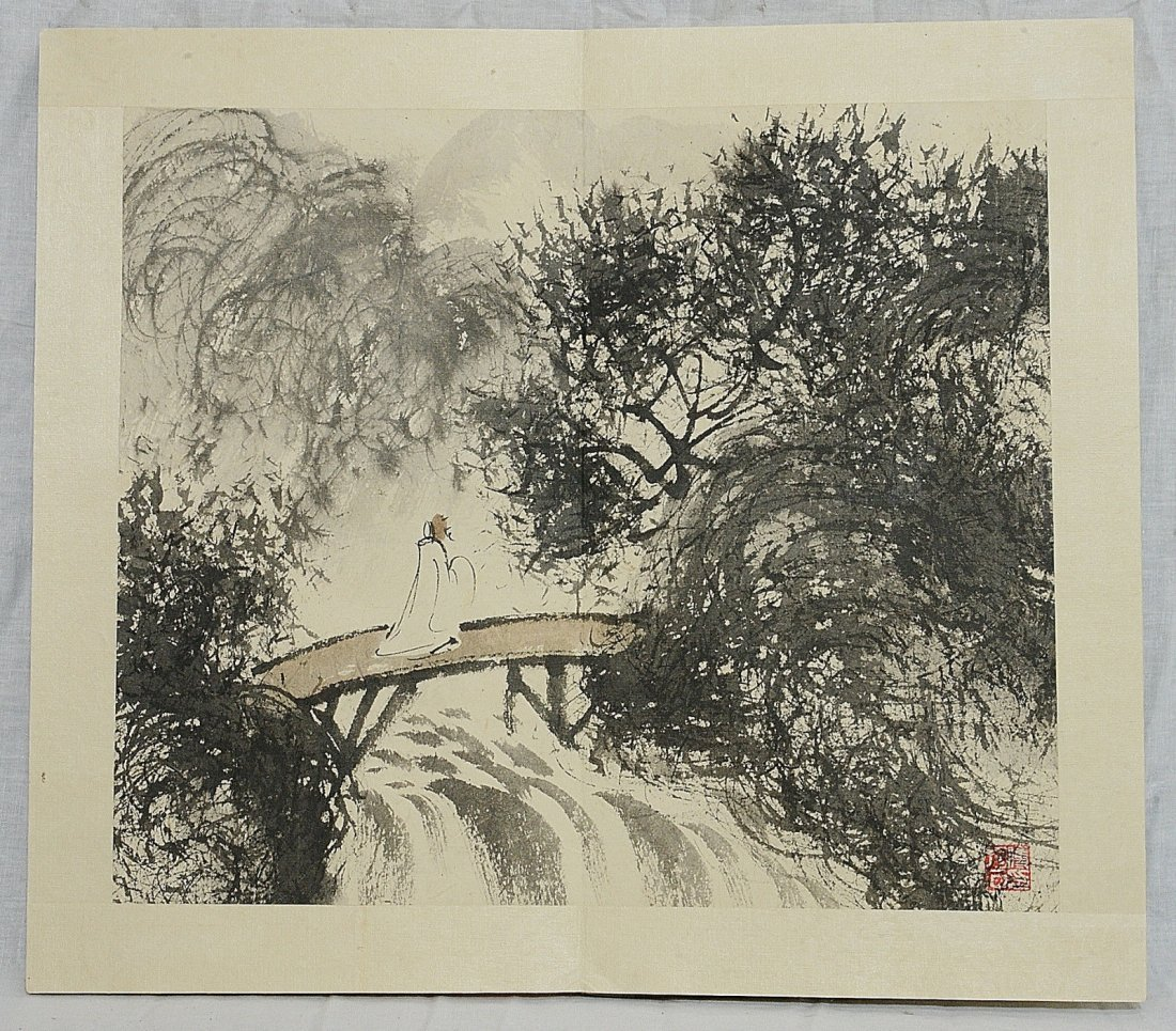 Chinese Ink On Paper Painting Album - 3