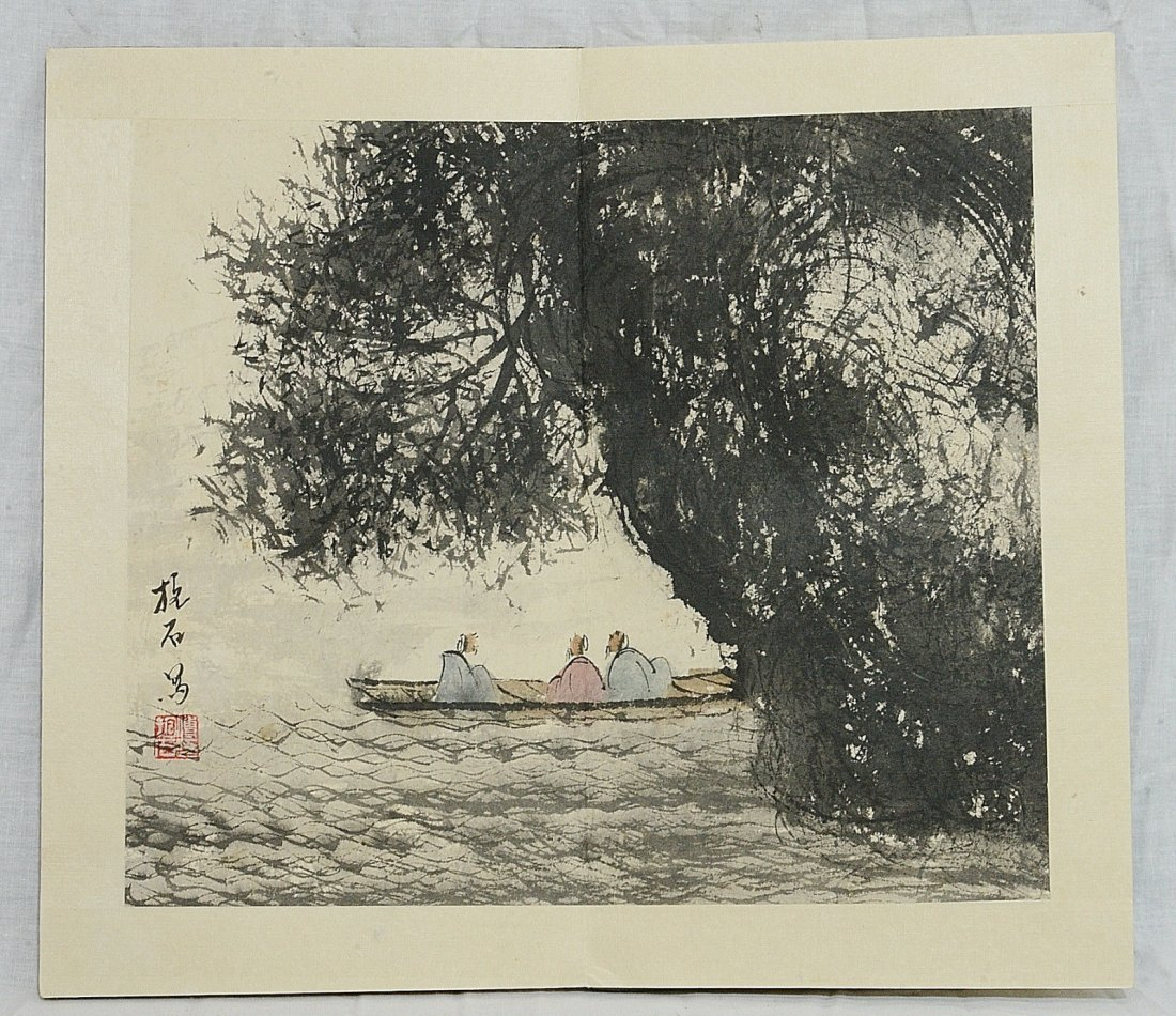 Chinese Ink On Paper Painting Album - 4