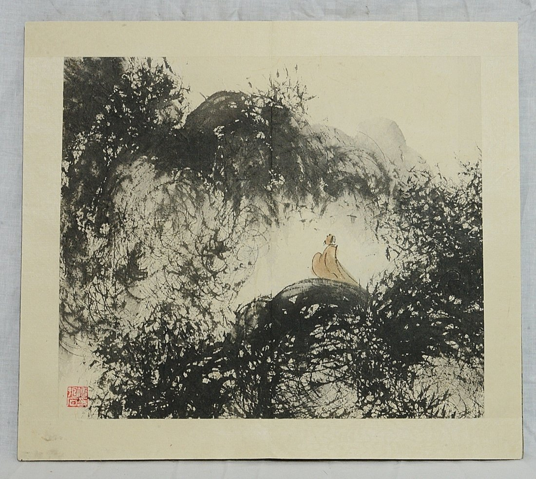 Chinese Ink On Paper Painting Album - 5