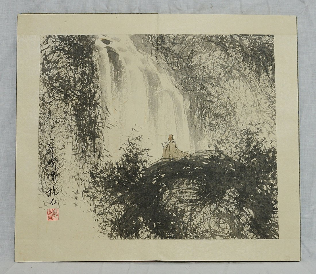 Chinese Ink On Paper Painting Album - 7