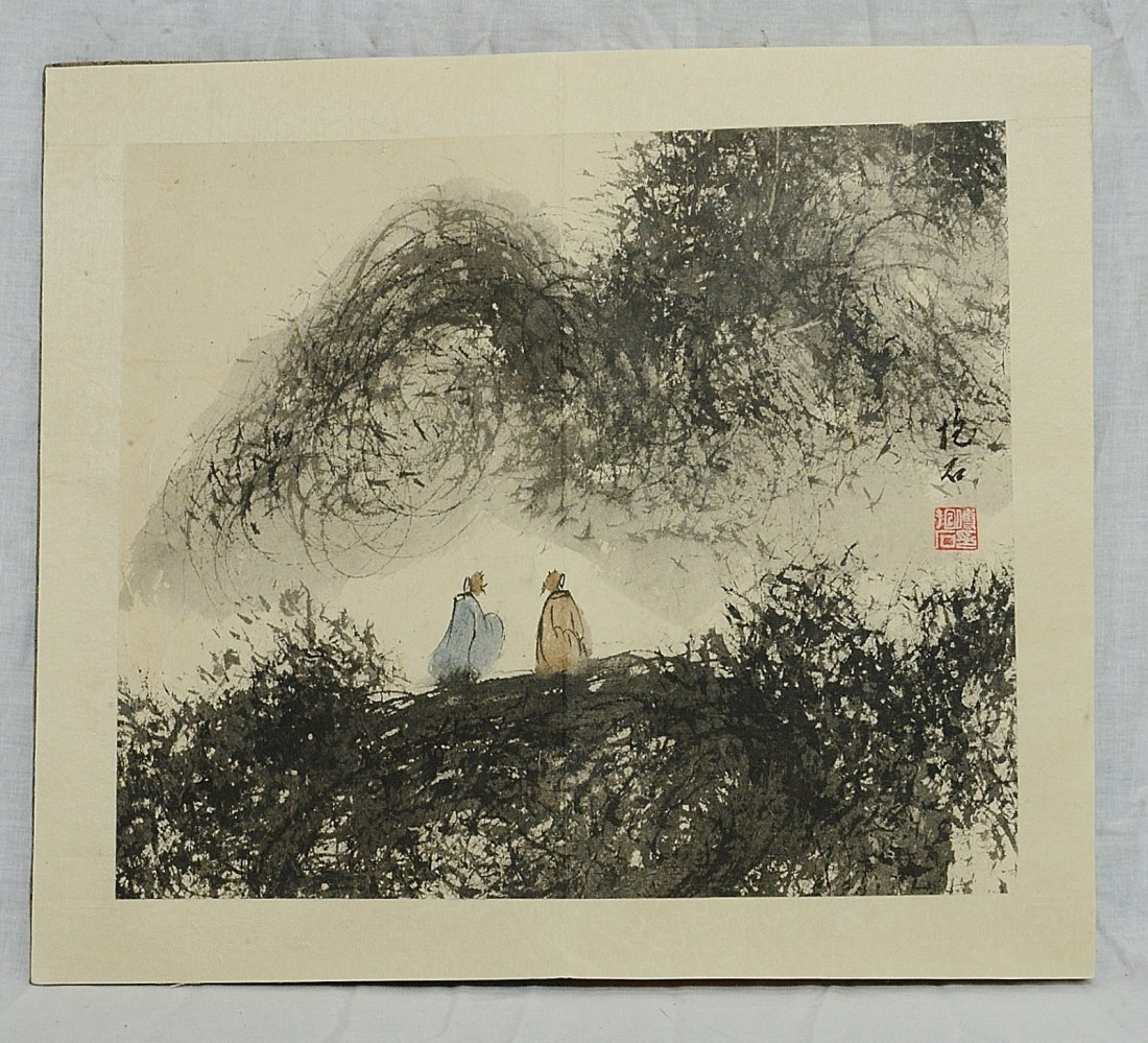 Chinese Ink On Paper Painting Album - 8