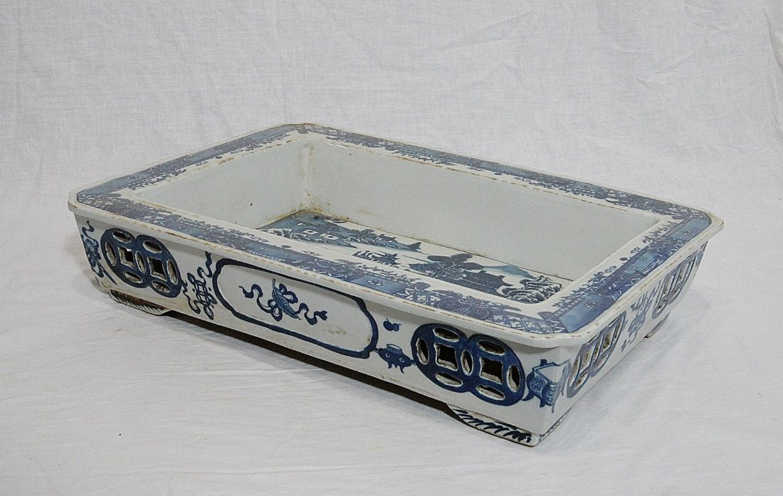 Chinese Blue and White Porcelain Narcissus Flower Pot