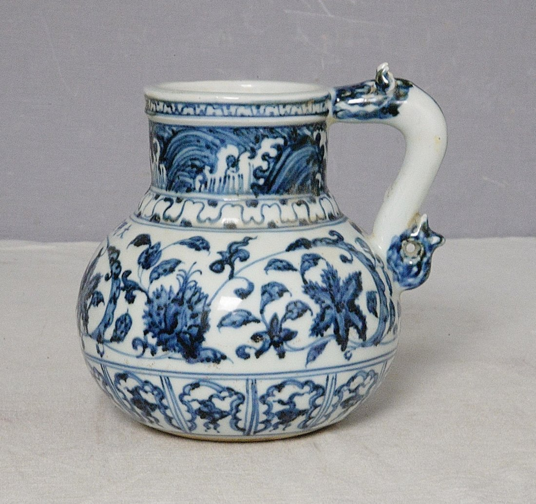 Chinese Blue and White Porcelain Cup With Mark