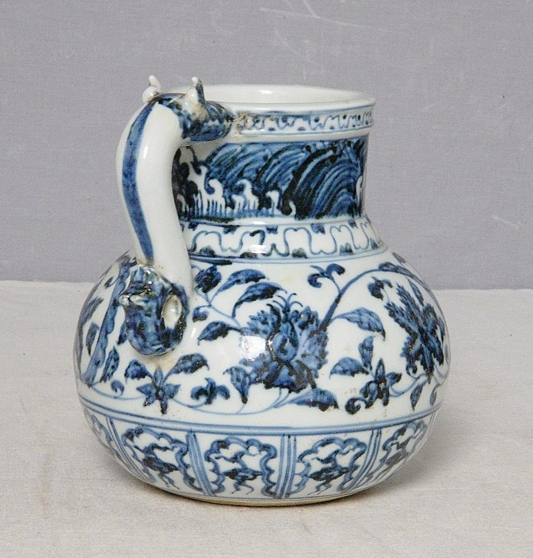 Chinese Blue and White Porcelain Cup With Mark - 4