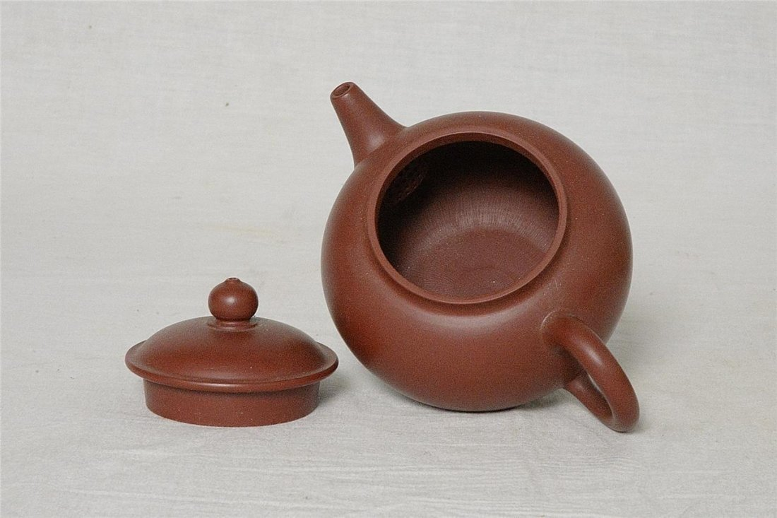 Chinese Ceramic Teapot With Studio Mark - 3