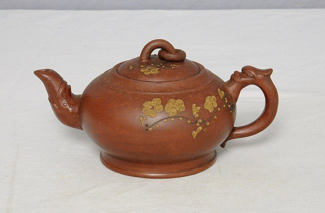 Chinese Ceramic Teapot With Studio Mark