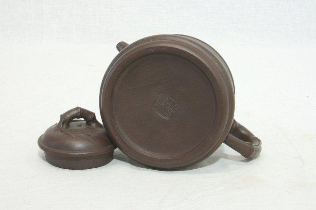 Chinese Ceramic Teapot With Studio Mark - 4