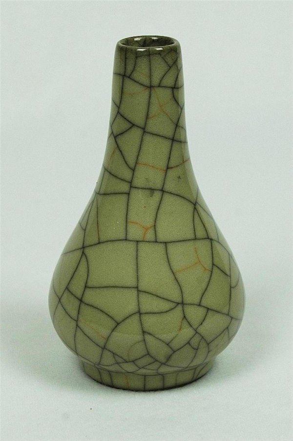 2006: Celadon  Glazed  Mini  Porcelain  Vase
