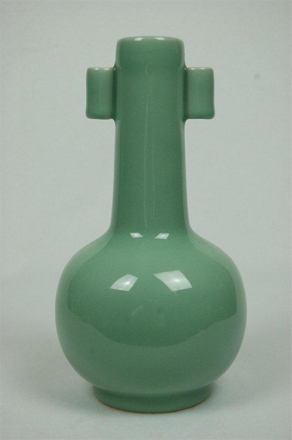 2015: Celadon  Long  Neck  Porcelain  Bottle