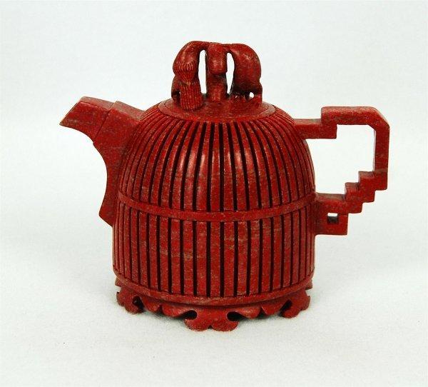 4007: Chinese Chicken Blood Stone Teapot