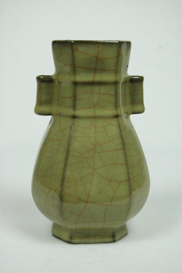 6013: Chinese  Ge-type  Glazed  Porcelain  Vase