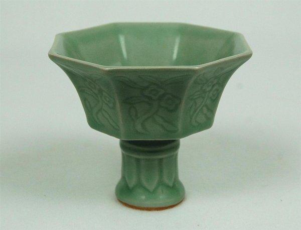 6014: Long-Quan  Porcelain  Stamcup