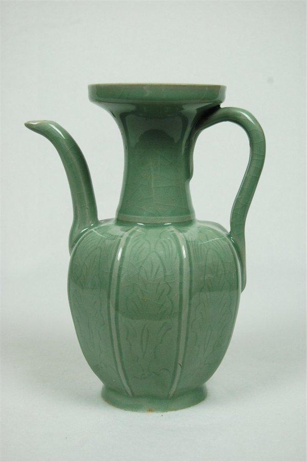 6016: Chinese  Glazed  Jun-Yao  Porcelain  Wine  Bottle