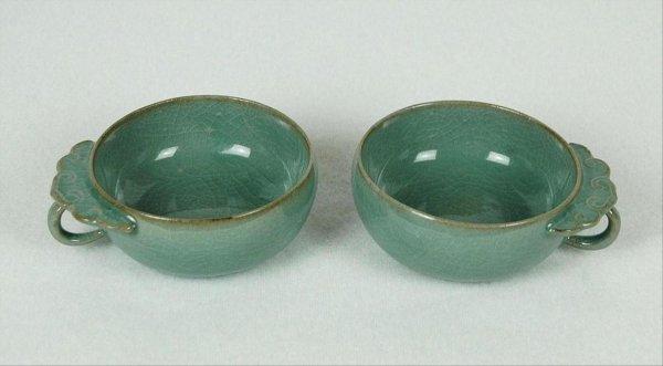 6018: Pair  of  Jun-Yao  Porcelain  Teacup