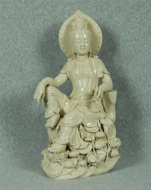 6019: Chinese blanc-de-chine figure Guanyin
