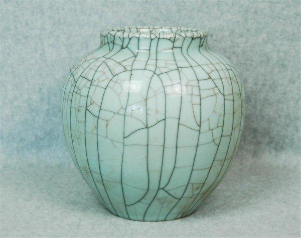 6022: A  Crackle  Glazed  Porcelain  Jar