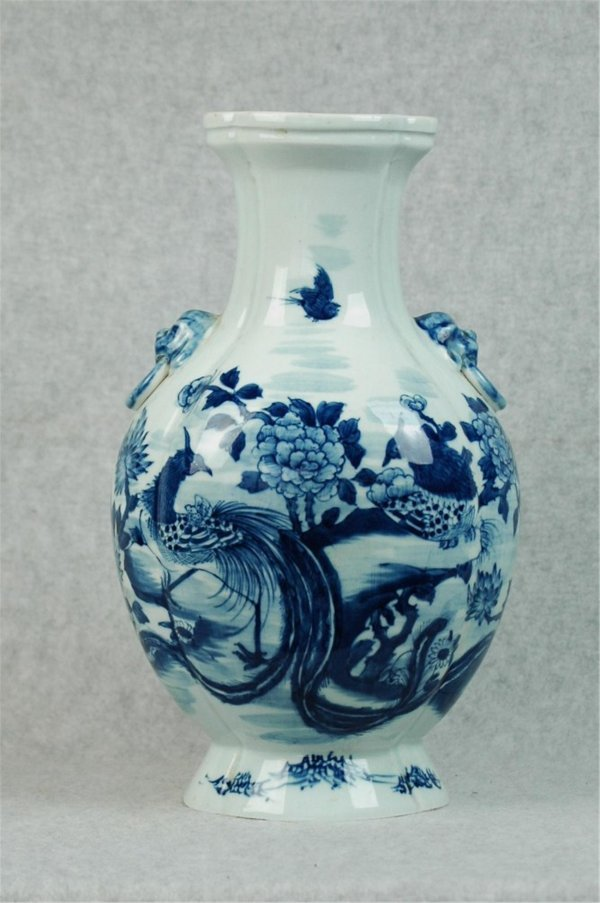 7007: Chinese  Blue and White  Porcelain  Vase