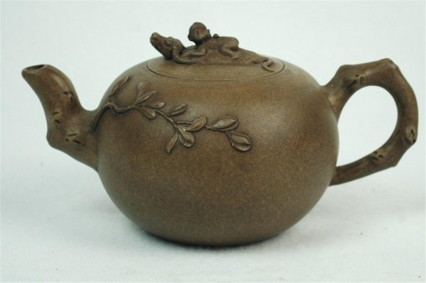 1507: Chinese  Ceramic  Teapot  with  mark.