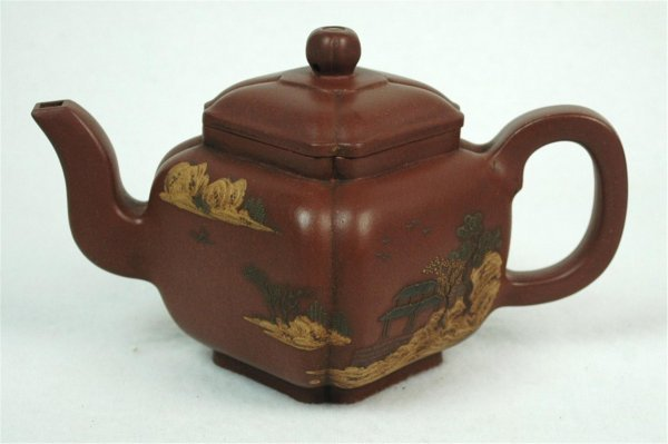 1510: Chinese  Ceramic  Teapot  with  mark.
