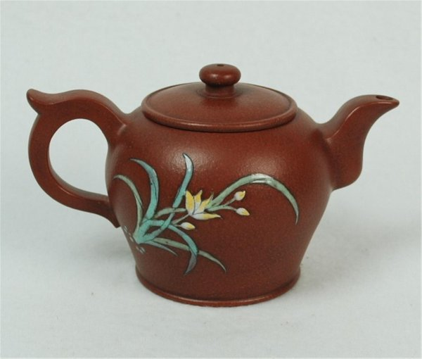 1515: Chinese  Ceramic  Teapot  with  mark.